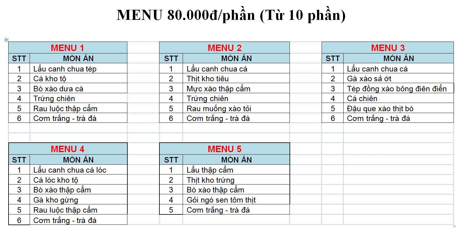 menu80k